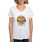 Estebanez Family Crest Women's V-Neck T-Shirt