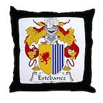 Estebanez Family Crest Throw Pillow