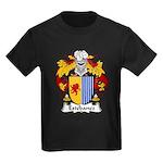 Estebanez Family Crest Kids Dark T-Shirt