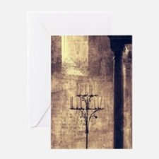 vintage ruins church candles Greeting Cards