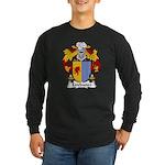 Estebanez Family Crest Long Sleeve Dark T-Shirt