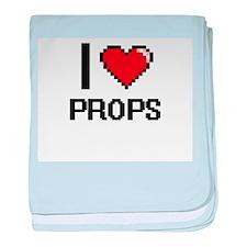 I Love Props Digital Design baby blanket