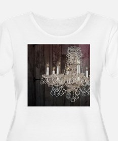 girly french country chandelier Plus Size T-Shirt