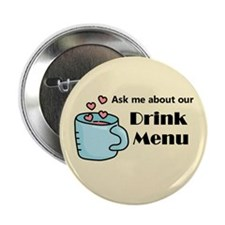 "Wait Staff Drink Menu 2.25"" Button (10 Pack)"