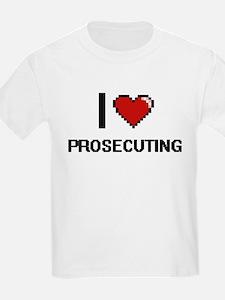 I Love Prosecuting Digital Design T-Shirt