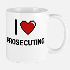 I Love Prosecuting Digital Design Mugs