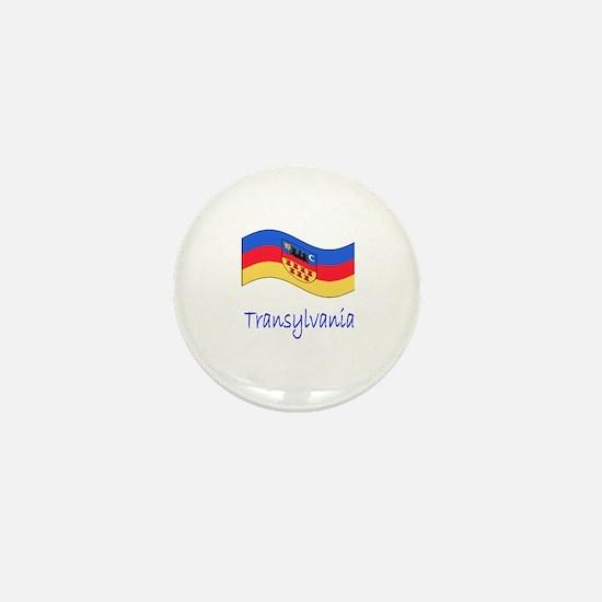 Waving Transylvania Historical Flag Mini Button
