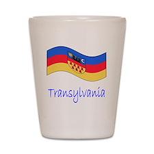 Waving Transylvania Historical Flag Shot Glass