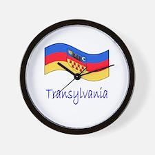 Waving Transylvania Historical Flag Wall Clock