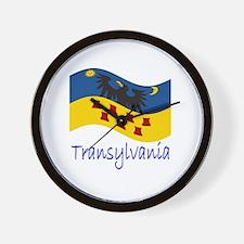 Waving Transylvania Historical Flag #2 Wall Clock