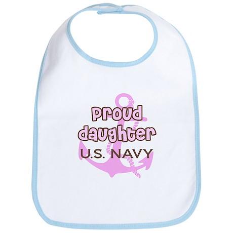 Navy - Proud Daughter Pink an Bib