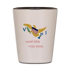 Waving United States Virgin Islands Fla Shot Glass