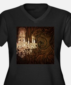 chic rustic western chandelier Plus Size T-Shirt