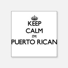 "Funny Puerto rico flag Square Sticker 3"" x 3"""