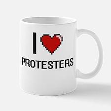 I Love Protesters Digital Design Mugs