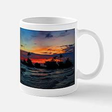 Rocky Island in Silhouette Mugs