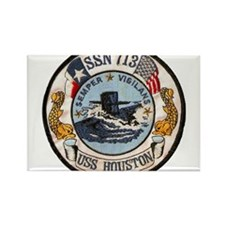 Cute Uss houston Rectangle Magnet (10 pack)