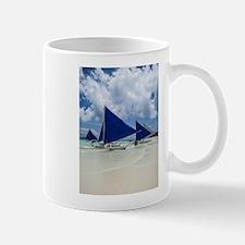 Sailboats on Boracay Beach Mugs