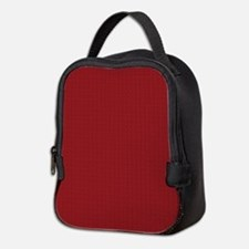 Solid Maroon Neoprene Lunch Bag