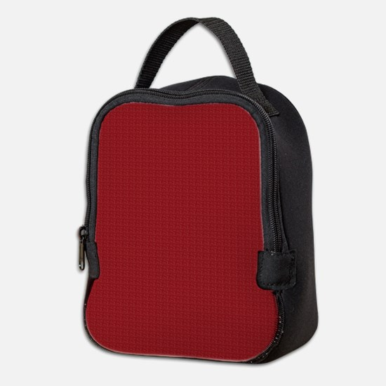 Solid Maroon Neoprene Lunch Bag