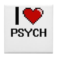 I Love Psych Digital Design Tile Coaster