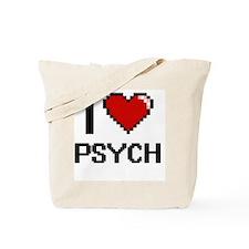 I Love Psych Digital Design Tote Bag
