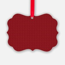 Solid Maroon Ornament