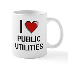I Love Public Utilities Digital Design Mugs