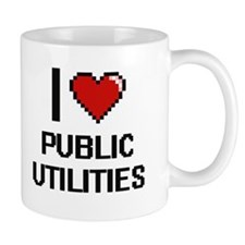 I Love Public Utilities Digital Design Mugs