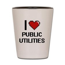 I Love Public Utilities Digital Design Shot Glass