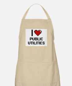 I Love Public Utilities Digital Design Apron