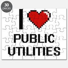 I Love Public Utilities Digital Design Puzzle