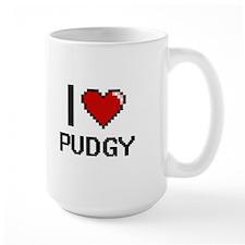 I Love Pudgy Digital Design Mugs