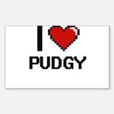 I Love Pudgy Digital Design Decal