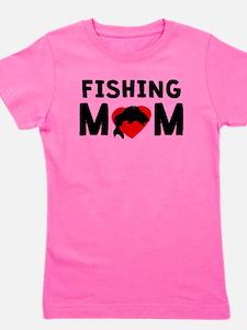 Fishing Mom Girl's Tee