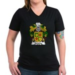 Escama Family Crest Women's V-Neck Dark T-Shirt