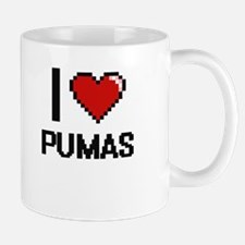 I Love Pumas Digital Design Mugs