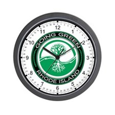 Going Green Green Rhode Island (Tree) Wall Clock