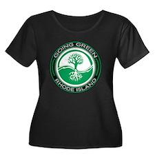 Going Green Green Rhode Island (Tree) T