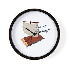 Smooth Sailing Wall Clock