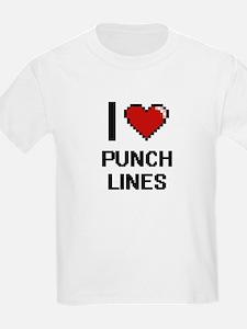 I Love Punch Lines Digital Design T-Shirt