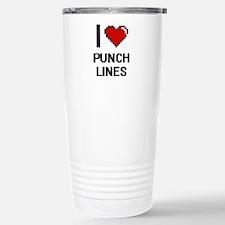 I Love Punch Lines Digi Stainless Steel Travel Mug