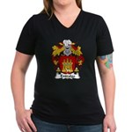 Entralgo Family Crest Women's V-Neck Dark T-Shirt