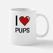 I Love Pups Digital Design Mugs