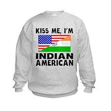 Kiss Me Im Indian American Sweatshirt