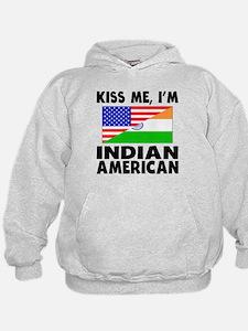 Kiss Me Im Indian American Hoodie