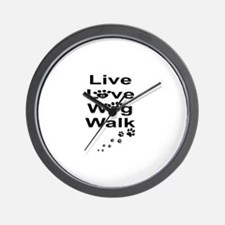 DOGS -LIVE, LOVE, WAG, WALK Wall Clock