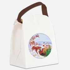 Santa with the sleigh Canvas Lunch Bag