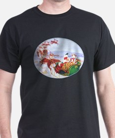 Santa with the sleigh T-Shirt