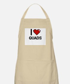 I Love Quads Digital Design Apron